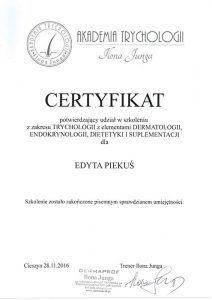 Trychologia z elementami dermatologii, endokrynologii, dietetyki i suplementacji